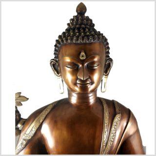 Medizinbuddha 29kg Kupferantik Gesicht