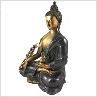 Medizinbuddha grünantik 7,9kg Seitenansicht Links