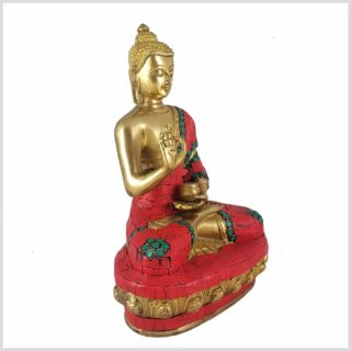 Lehrender Buddha Mosaik rot Rechts