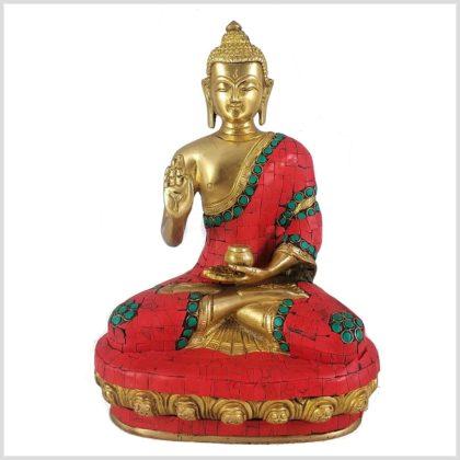 Lehrender Buddha Mosaik rot Vorderansicht