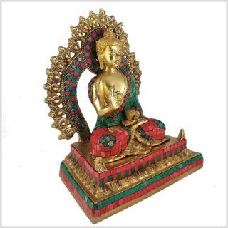 Lehrender Buddha mit Steinen Seitenansicht Rechts