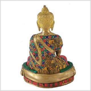 Lehrender Buddha Mosaikarbeit Tiger Hinten