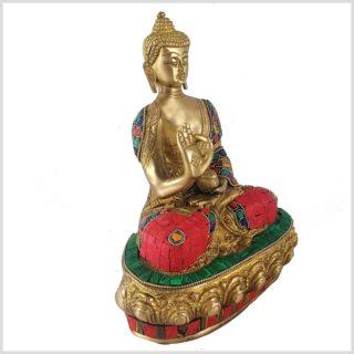 Lehrender Buddha Mosaikarbeit Tiger Seitenansicht Rechts