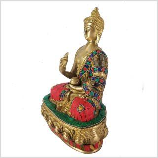 Lehrender Buddha Mosaikarbeit Tiger Seitenansicht