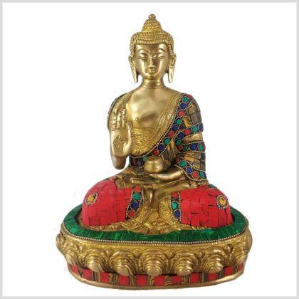 Lehrender Buddha Mosaikarbeit Tiger Vorderansicht