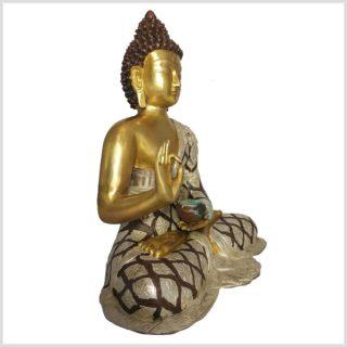 Lehrender Buddha Tricoloure 10,6 KG Seitenansicht