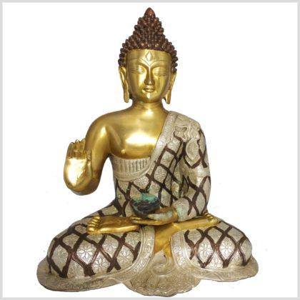 Lehrender Buddha Tricoloure 10,6 KG Front