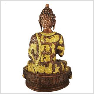 Medizinbuddha Messing verkupfert Rückansicht