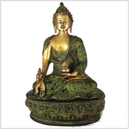 Medizinbuddha Grünantik 33cm 4KG Vorderansicht