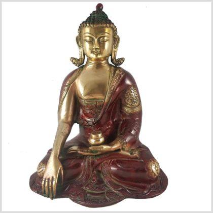 Erdender Buddha seitliche Ansicht Frontansicht