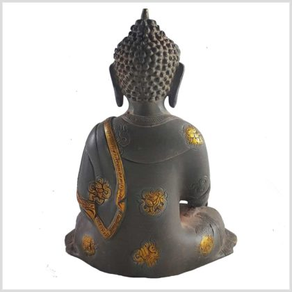Medizinbuddha 2,8 KG Nepalgrau Asthamangala Rückansicht