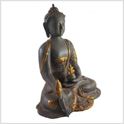 Medizinbuddha 2,8 KG Nepalgrau Asthamangala Seitenansicht