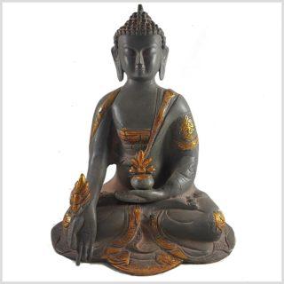 Medizinbuddha 2,8 KG Nepalgrau Asthamangala Frontansicht