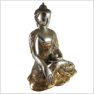 Life Buddha 6KG Erdender Buddha Messing versilbert rechts