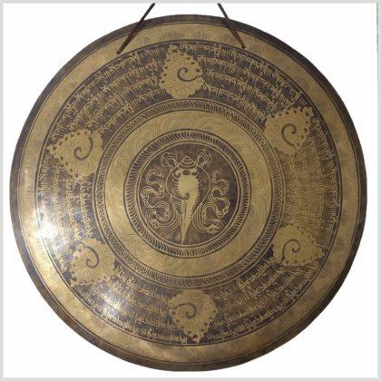 Gong Nepal Muschelhorn Nahansicht