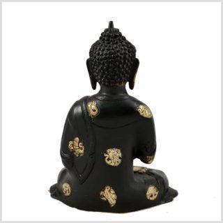 Lehrender Buddha Nepal Schwarz Hinten