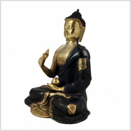 Lehrender Buddha Nepal Schwarz Links