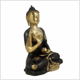Lehrender Buddha Nepal Schwarz Seite Rechts