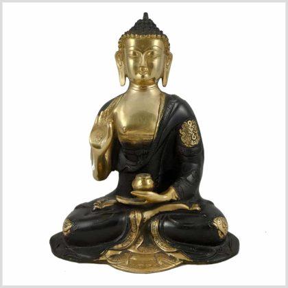 Lehrender Buddha Nepal Schwarz vorne