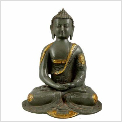 Erleuchteter Buddha 2,8KG 22cm Steingrün Vorderansicht
