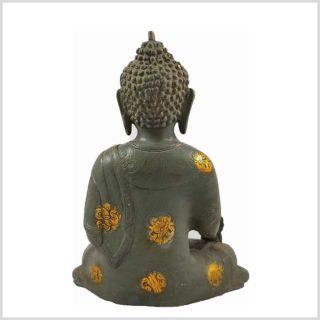Medizinbuddha Steingrün 25cm Asthamangala Hinten