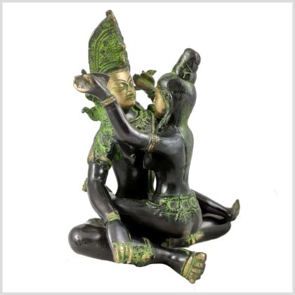 Yab-Yum Buddha Shakti grünantik Seitenansicht