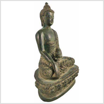 Bhumiparsha Mudra Antik aus Tibet Seitenansicht Rechts