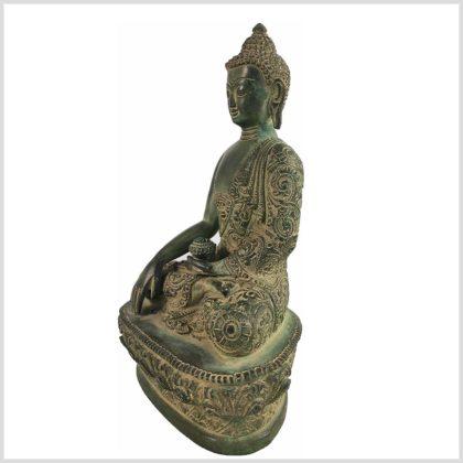 Bhumiparsha Mudra Antik aus Tibet Seitenansicht Links