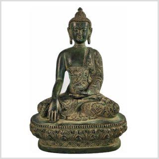 Bhumiparsha Mudra Antik aus Tibet Frontansicht