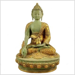 Medizinbuddha Mintgrün Antik Vorne