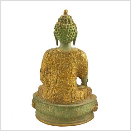 Medizinbuddha Mintgrün Antik Hinten