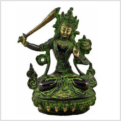 Manjushri Messing antikgrün 750g Vorderansicht