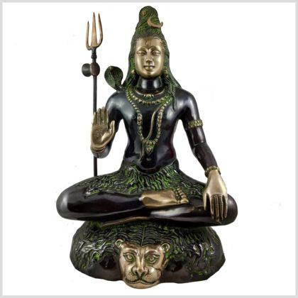 Sitzender Shiva aus Messing Vorne