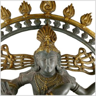 Tanzender Shiva 86cm Nepalgrau Oben