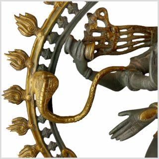 Tanzender Shiva 86cm Nepalgrau Seitenansicht