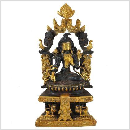 Weiße Tara Tempeltara braungold Vorderansicht