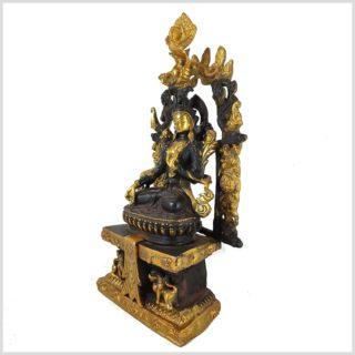 Weiße Tara Tempeltara braungold Seitenansicht