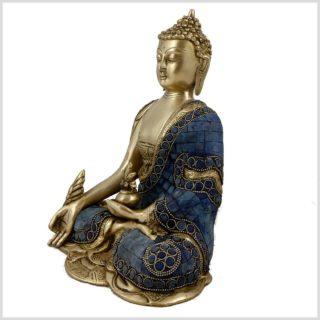 Medizinbuddha Mosaik Fullblue Seitenansicht Links