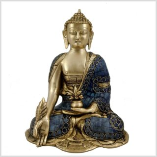 Medizinbuddha Mosaik Fullblue Vorderansicht