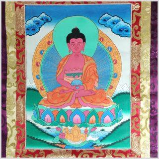 Thangka Amithaba Buddha Mittelansicht