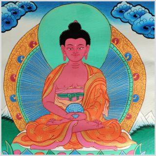 Thangka Amithaba Buddha Nahansicht