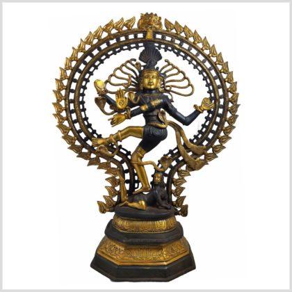 Tanzender Shiva 70cm aus Messing gefertigt Nepal Frontansicht
