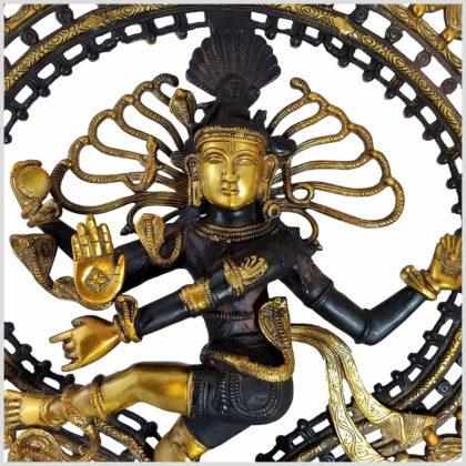 Tanzender Shiva 70cm aus Messing gefertigt Nepal Nahansicht