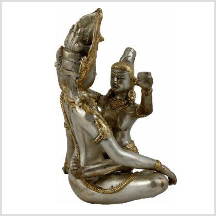 Yab-Yum Buddha Shakti Silbergold Hinten