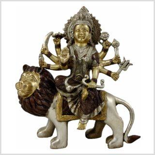 Durga Messing Kupfer Silber Vorderansicht