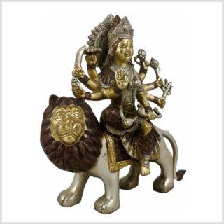 Durga Messing Kupfer Silber Seitenansicht Rechts