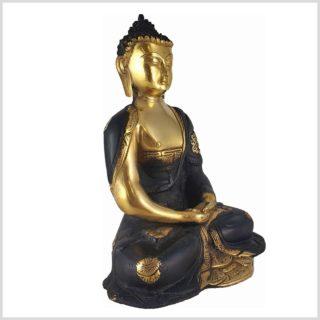 Erleuchteter Buddha Asthamangala Schwarzgold Seitenansicht