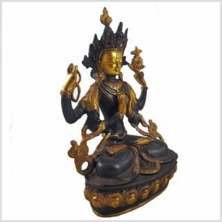 Avalokiteshvara 3,8kg Braungold Seitenansicht Rechts