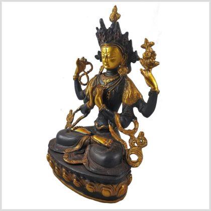 Avalokiteshvara 3,8kg Braungold Seitenansicht