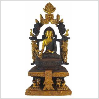 Medizinbuddha Tempelbuddha braungold Vorderansicht